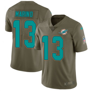 Men's Nike Miami Dolphins Dan Marino 2017 Salute to Service Jersey - Olive Limited