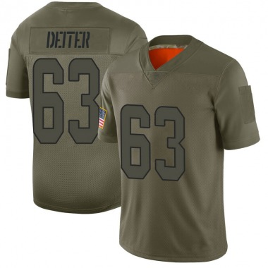 Men's Nike Miami Dolphins Michael Deiter 2019 Salute to Service Jersey - Camo Limited