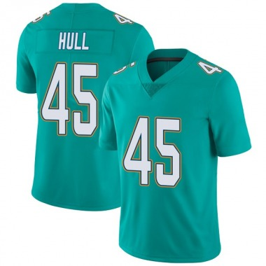 Men's Nike Miami Dolphins Mike Hull Team Color Vapor Untouchable Jersey - Aqua Limited