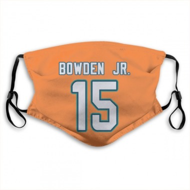 Miami Dolphins Lynn Bowden Jr. Jersey Name and Number Face Mask - Orange