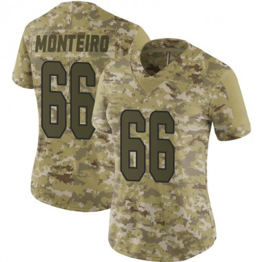 Women's Nike Miami Dolphins Aaron Monteiro 2018 Salute to Service Jersey - Camo Limited