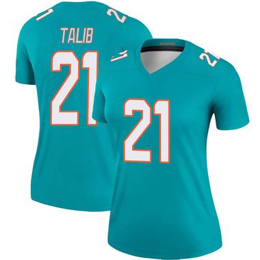 Women's Nike Miami Dolphins Aqib Talib Jersey - Aqua Legend