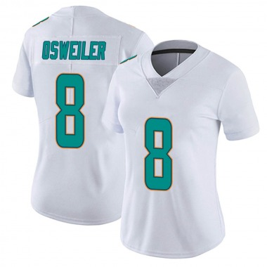 Women's Nike Miami Dolphins Brock Osweiler limited Vapor Untouchable Jersey - White