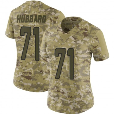 Women's Nike Miami Dolphins Jonathan Hubbard 2018 Salute to Service Jersey - Camo Limited