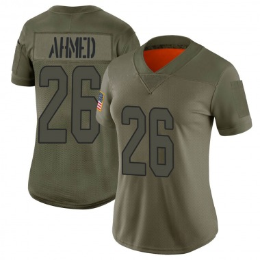 Women's Nike Miami Dolphins Salvon Ahmed 2019 Salute to Service Jersey - Camo Limited