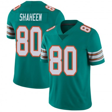 Youth Nike Miami Dolphins Adam Shaheen Alternate Vapor Untouchable Jersey - Aqua Limited