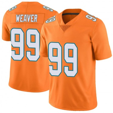 Youth Nike Miami Dolphins Curtis Weaver Color Rush Jersey - Orange Limited