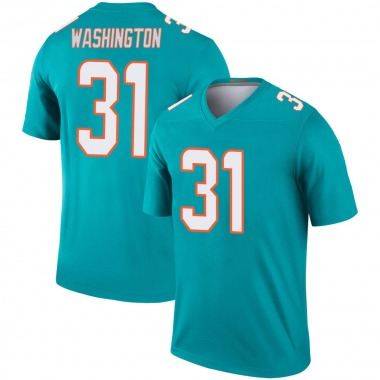 Youth Nike Miami Dolphins DeAndre Washington Jersey - Aqua Legend